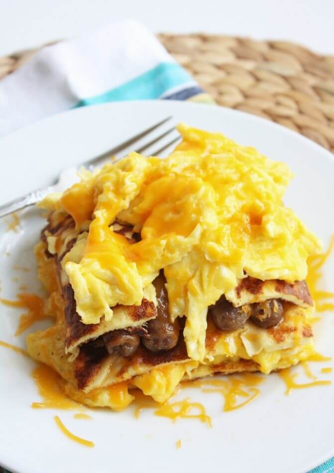 low carb and gluten free breakfast lasagna