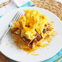 Low Carb Breakfast Lasagna (Gluten Free)
