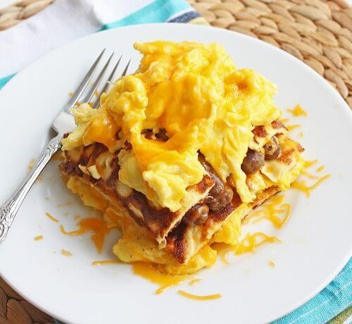 Low Carb Breakfast Lasagna (Gluten Free)