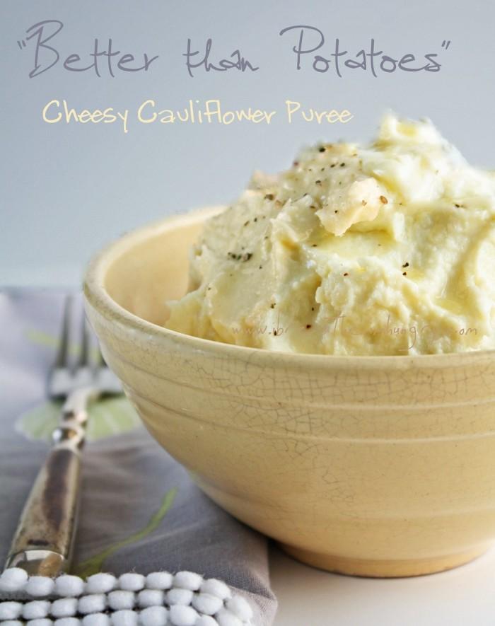 cheesy cauliflower puree