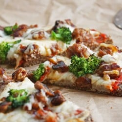 low carb flax pizza crust