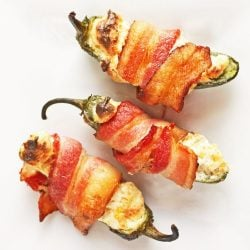 Bacon Wrapped Low Carb Jalapeno Poppers