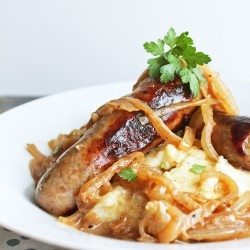 low carb bangers and mash