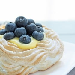 Sugar Free Berry & Lemon Curd Pavlovas
