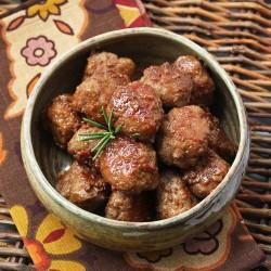 bourbon cider glazed turkey meatballs