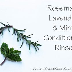 DIY Herbal Conditioning Hair Rinse