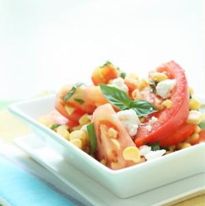 Fresh Corn & Tomato Salad w/ Goat Cheese