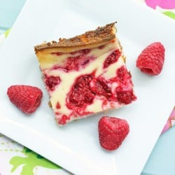 low carb and gluten free raspberry cheesecake bars