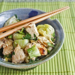 grilled chicken and bok choy salad