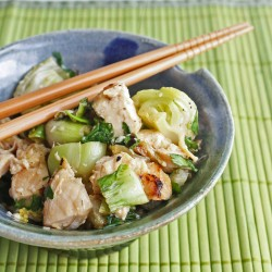 Grilled Chicken & Baby Bok Choy Salad