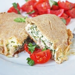 Ham & Spinach Calzones (Low Carb and Gluten Free)