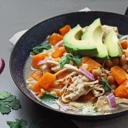 Low Carb & Gluten Free Pumpkin Chicken Chili