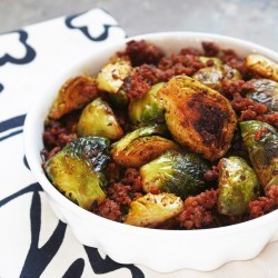 chorizo and brussels sprouts