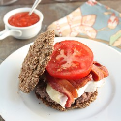 Low Carb Flax & Parmesan Burger Buns (Gluten Free)