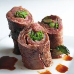 Beef Negimaki (Steak & Scallion Rolls)