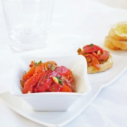 Roasted Peppers w/ Golden Raisins & Pine Nuts