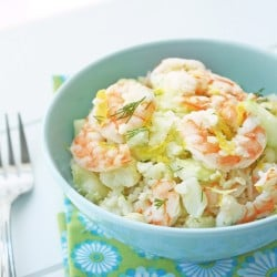 Shrimp & Cauliflower Salad – Low Carb and Gluten Free