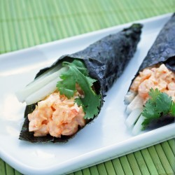 spicy shrimp sushi roll