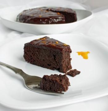 Chocolate Orange Garbanzo Bean Cake (Gluten Free)