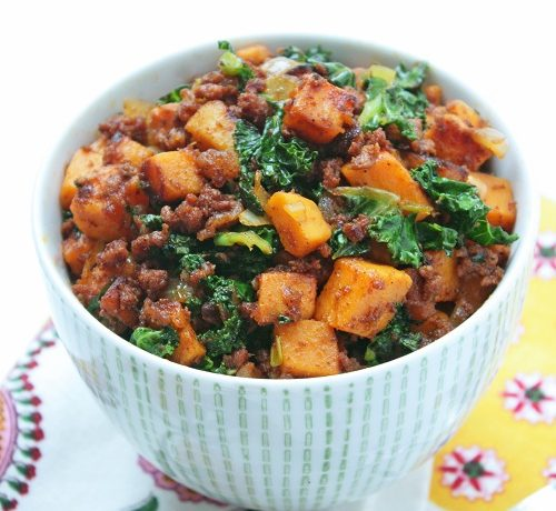 Chorizo, Kale & Sweet Potato Hash
