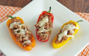 low carb chili stuffed peppers