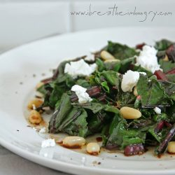 Low carb recipe for beet green salad