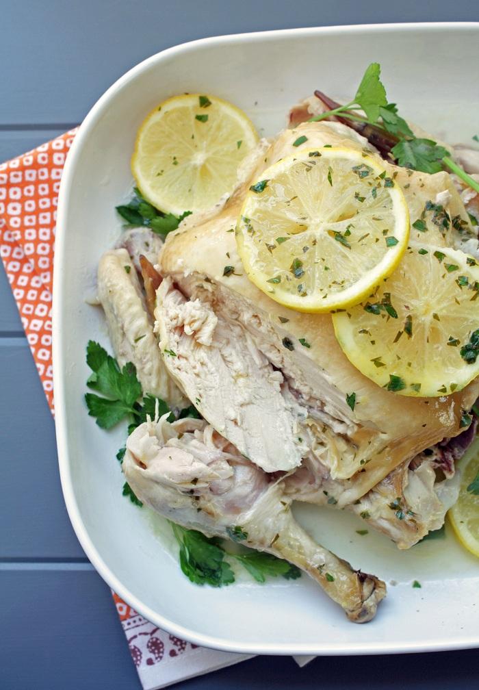 Easy Crock Pot Roasted Chicken @