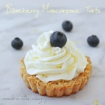 low carb blueberry tarts