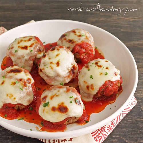 Low Carb Meatballs alla Parmigiana