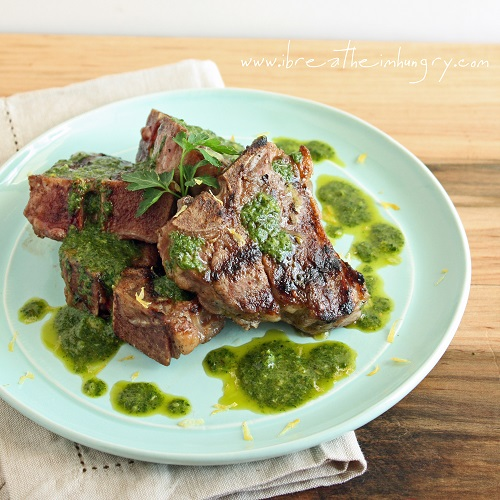 Grilled Lamb Chops with Charmoula (Low Carb, Gluten Free & Whole 30)