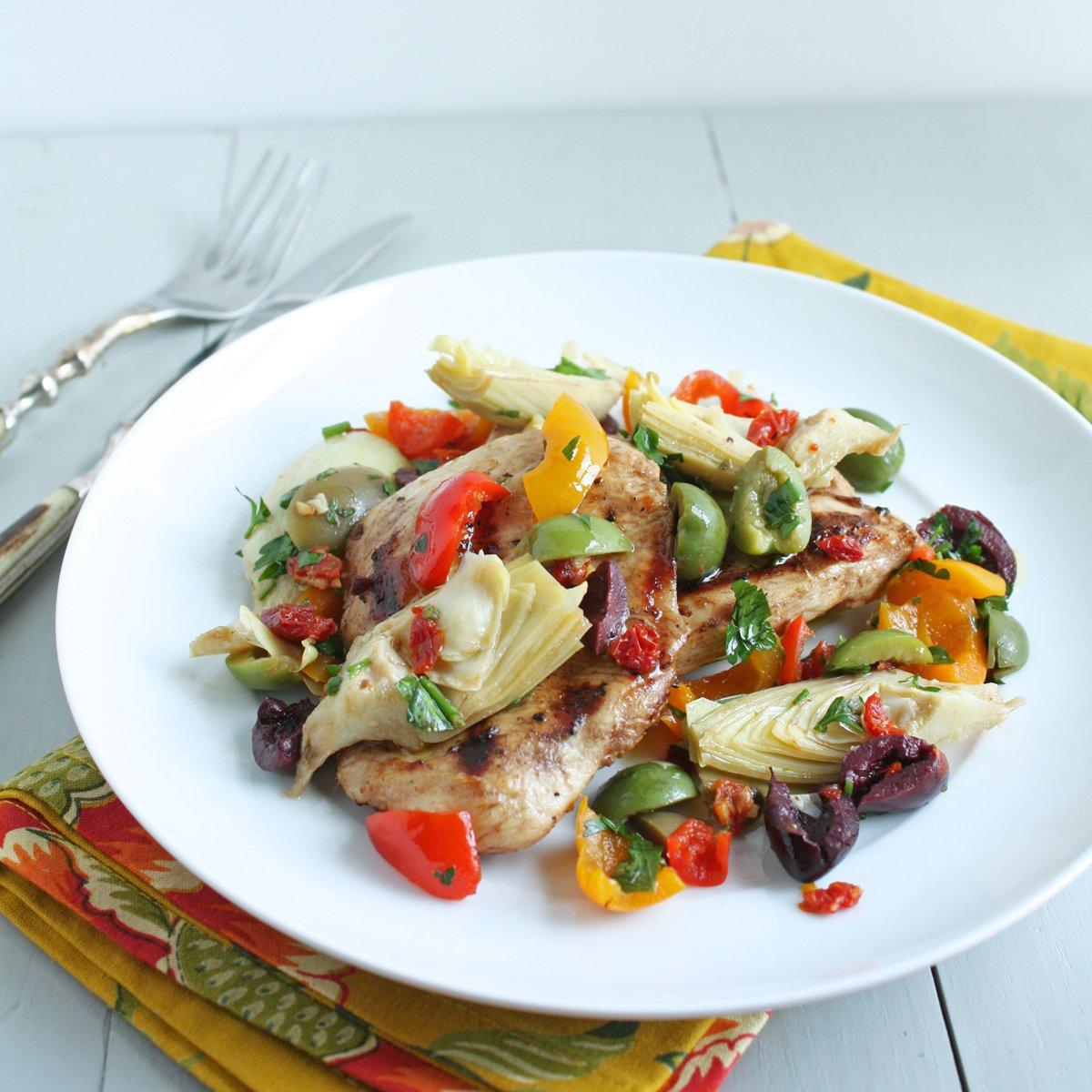 Balsamic Grilled Chicken with Mediterranean Salsa