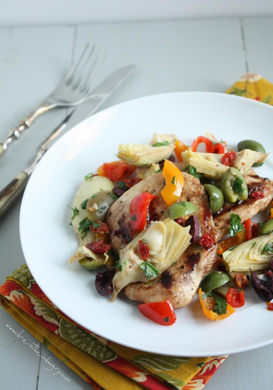 Keto Grilled Chicken Mediterranean