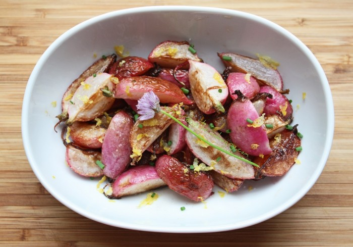 pan roasted radishes