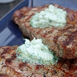 Grilled Ribeye with Gorgonzola Butter