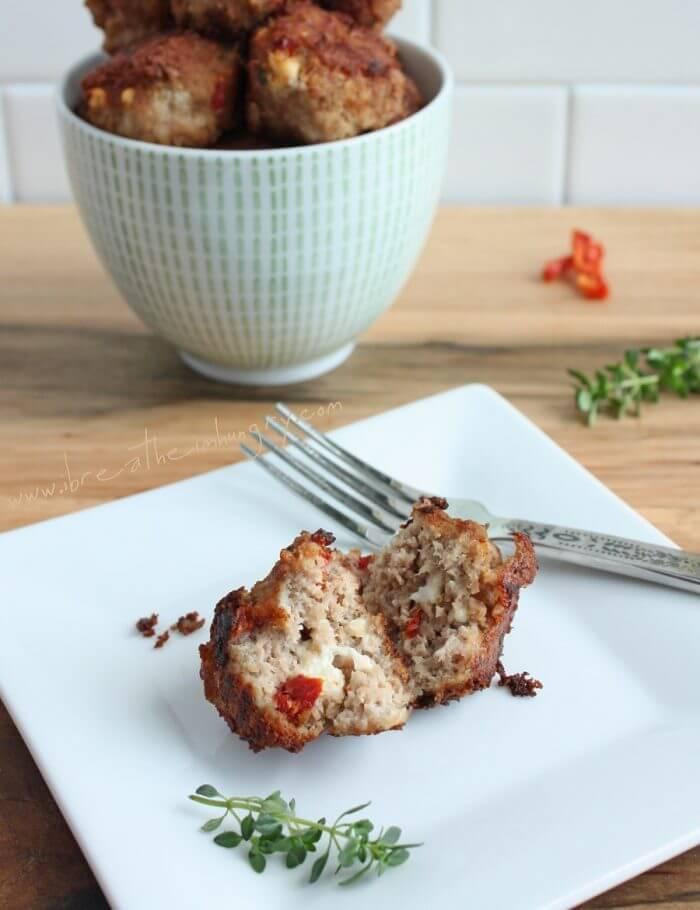 Sun-dried Tomato & Feta Meatballs