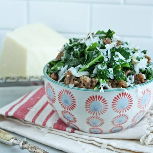 broccoli rabe and sausage low carb and gluten free