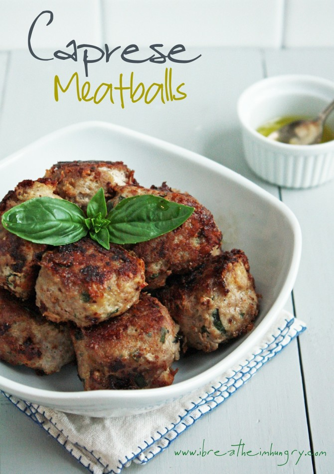 caprese meatballs low carb and gluten free