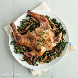 Cornish Game Hens with Shitake & Chard (Low Carb & Gluten Free)