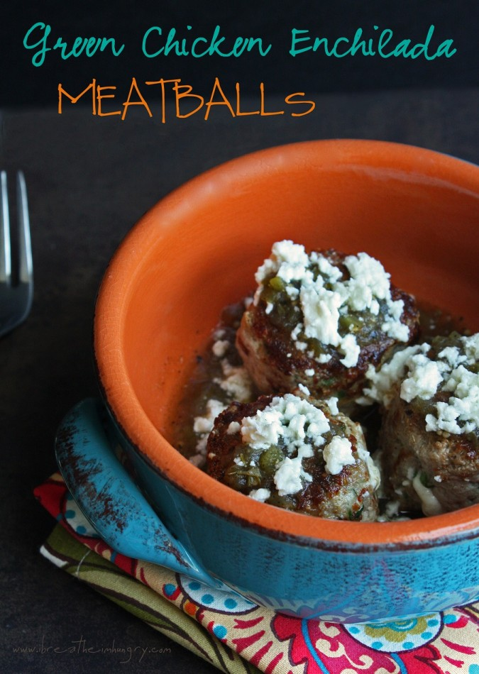 green chicken enchilada meatballs low carb and gluten free