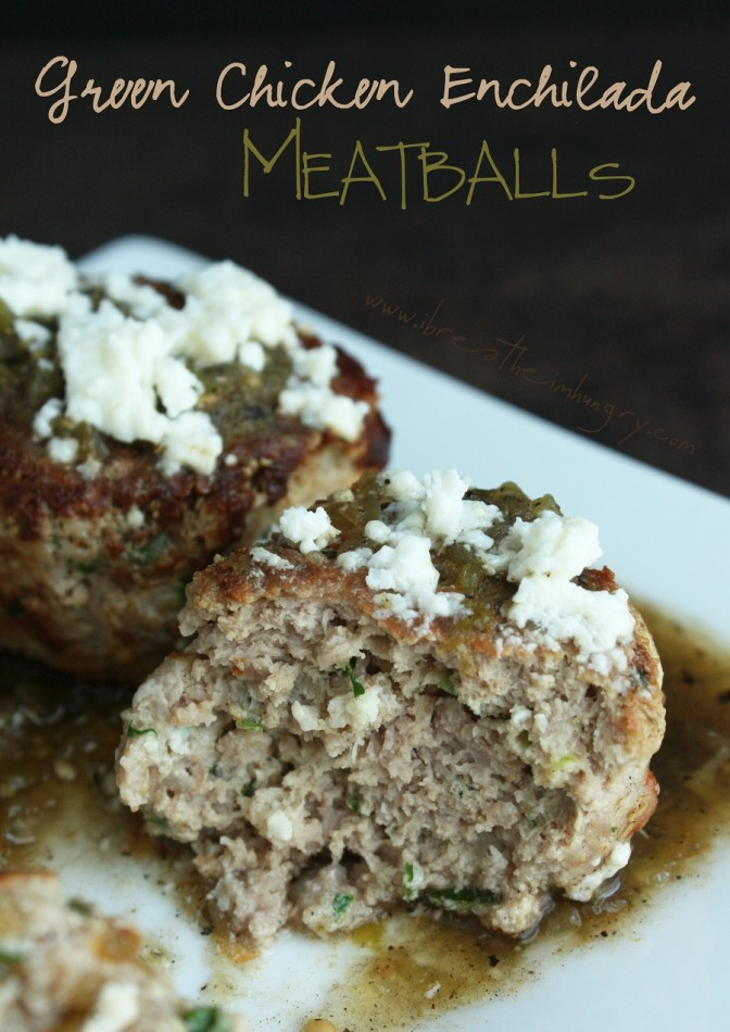 green chicken enchilada meatballs - low carb and gluten free