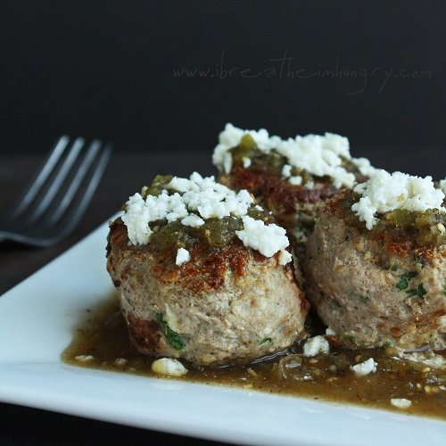green chicken enchilada meatballs