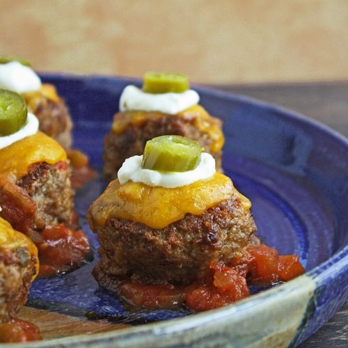 loaded nacho meatballs low carb and gluten free