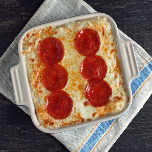 Pepperoni Pizza Cauliflower Casserole (Low Carb and Gluten Free)