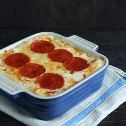 Pepperoni Pizza Cauliflower Casserole – Low Carb & Keto