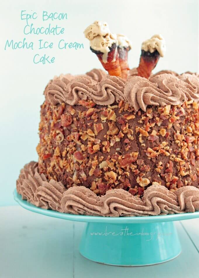 bacon chocolate mocha ice cream cake low carb and gluten free