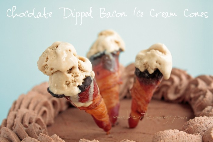 bacon ice cream cones low carb and gluten free