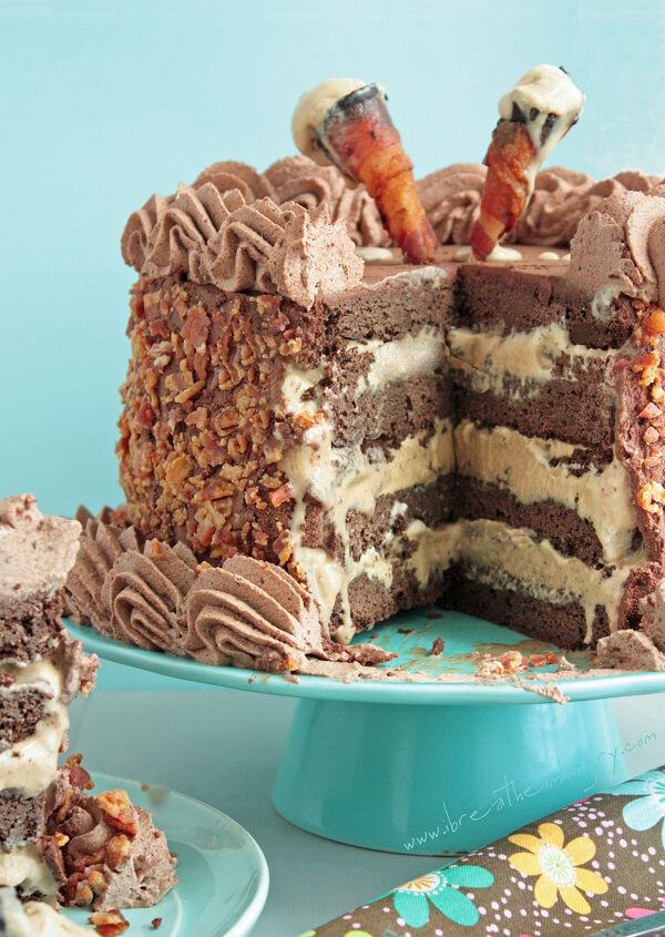 Chocolate Double Layer Cake With Writing