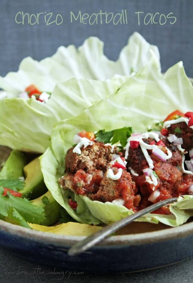 chorizo meatballs low carb and gluten free