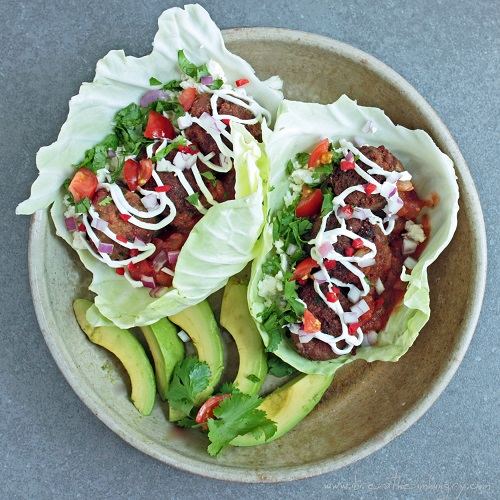 chorizo meatball tacos low carb and gluten free