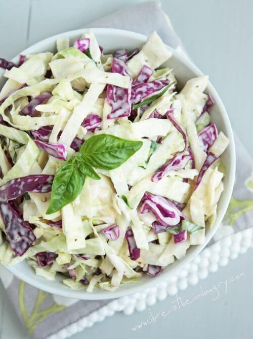 low carb and sugar free cole slaw